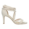 Heeled lace-up sandals insolia, white , 769-1613 - 15