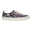 Ladies' sneakers with floral pattern north-star, black , 589-6446 - 15