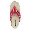 Ladies' flip-flops with a distinctive sole weinbrenner, red , 566-5611 - 17