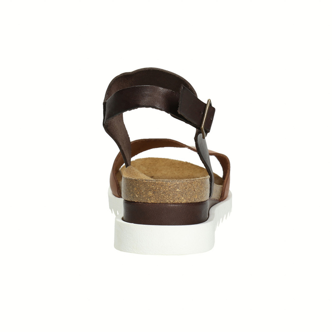 Leather sandals with a white sole weinbrenner, brown , 566-4629 - 17