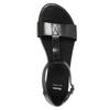 Black leather sandals bata, black , 564-6600 - 19
