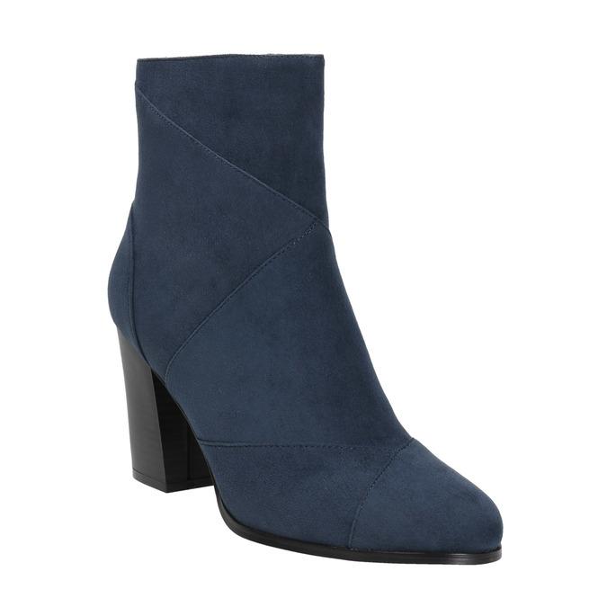 Ladies' blue ankle boots bata, blue , 799-9615 - 13