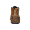 Leather ankle boots with a zipper bata, brown , 826-3911 - 17