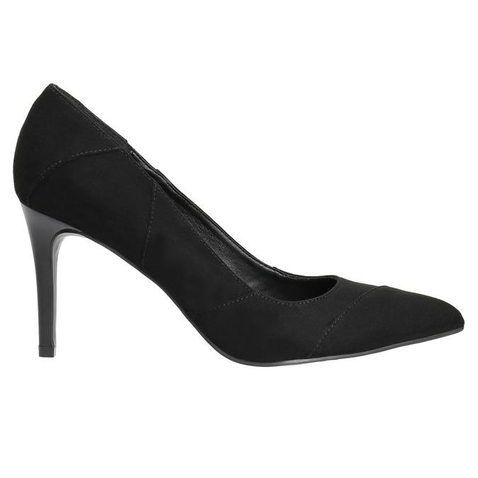 Ladies pointed pumps insolia, black , 729-6607 - 15