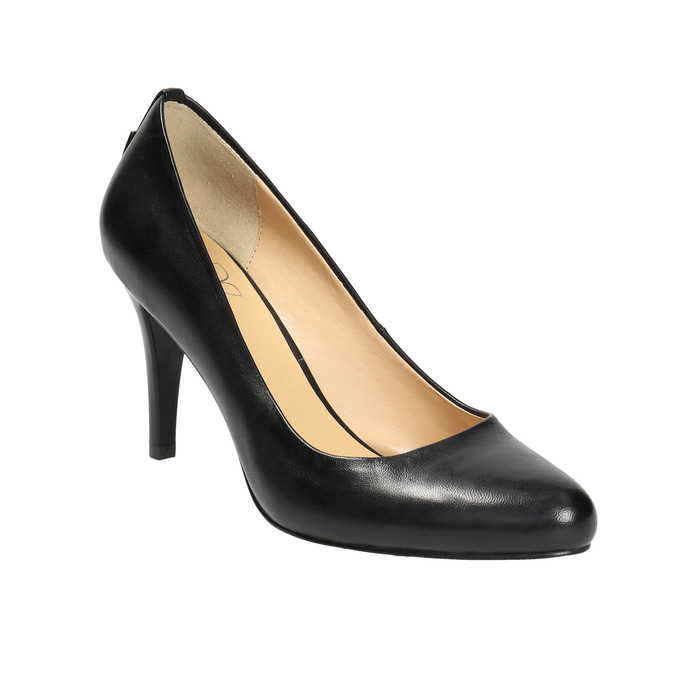 Ladies' leather pumps bata, black , 724-6649 - 13