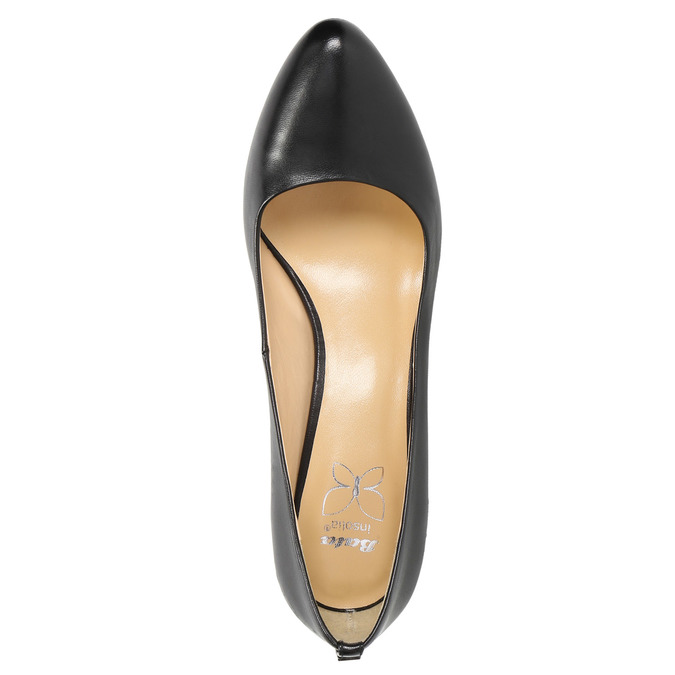 Ladies' leather pumps bata, black , 724-6649 - 19