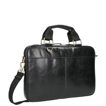 Leather unisex bag bata, black , 964-6204 - 13