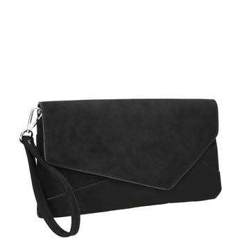 Black asymmetric clutch bata, black , 969-6665 - 13