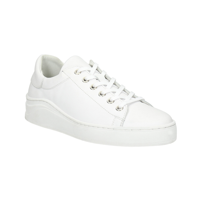 White leather sneakers bata, white , 526-1641 - 13