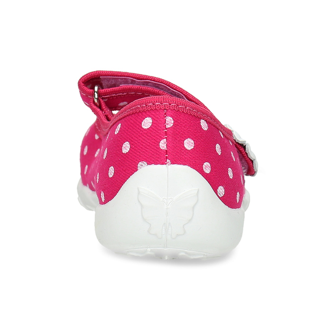 House slippers with polka dots, pink , 379-5214 - 15