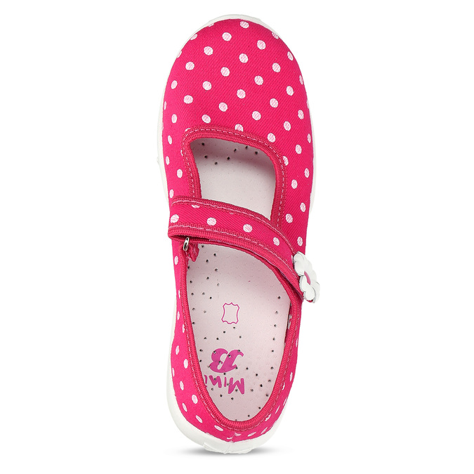 House slippers with polka dots, pink , 379-5214 - 17