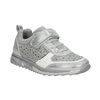 Girl's silver sneakers with small rhinestones mini-b, gray , 329-2295 - 13