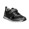 Girl's sneakers with small rhinestones mini-b, black , 329-6295 - 13