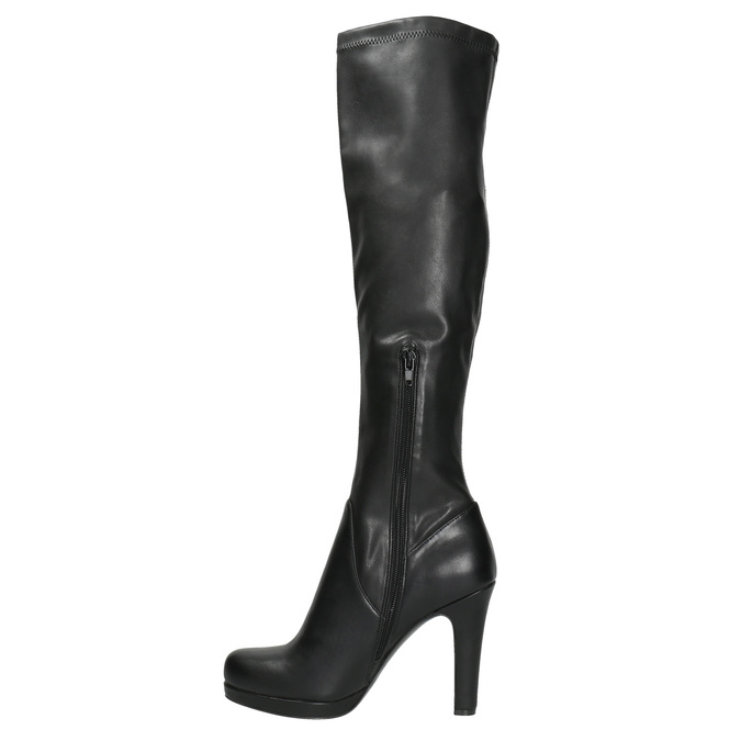 Ladies' high boots with heels bata, black , 791-6613 - 26
