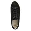 Leather sneakers with distinctive flatform bata, black , 523-6604 - 26
