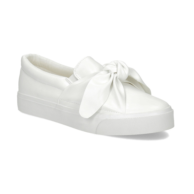 Ladies' slip-ons with bow north-star, white , 511-1606 - 13
