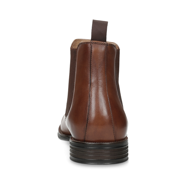 Brown leather Chelsea Boots bata, brown , 896-3400 - 15