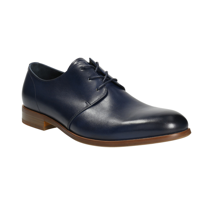Blue leather shoes bata, blue , 826-9680 - 13