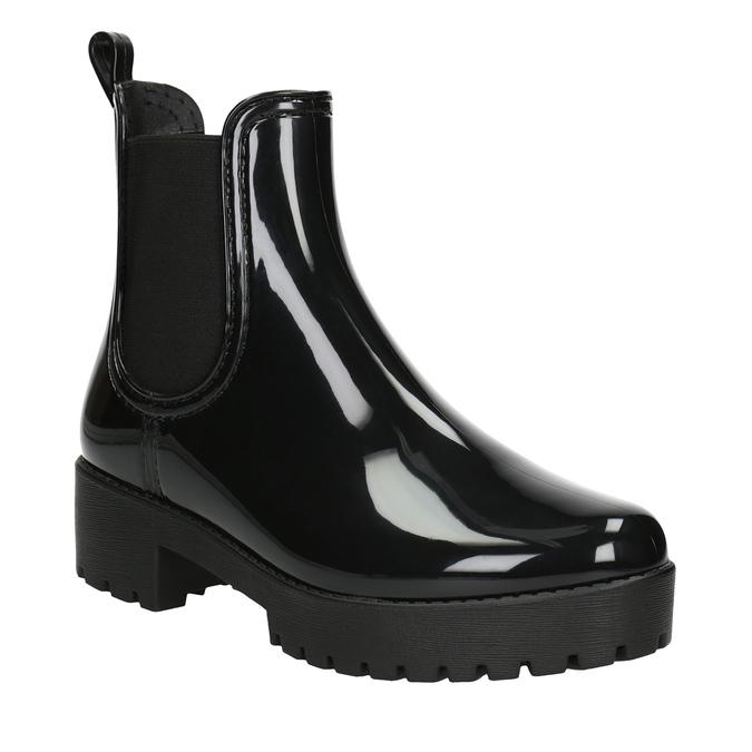 Ladies' Glossy Wellington Boots bata, black , 592-6400 - 13