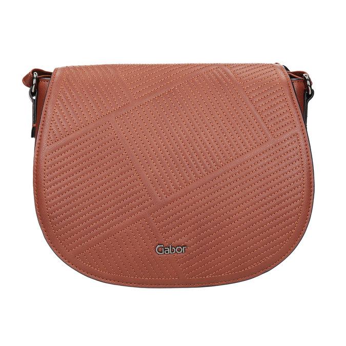 Ladies' Handbag with Stitching gabor-bags, brown , 961-3055 - 26