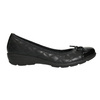Leather ballerinas with stitching comfit, black , 526-6638 - 15