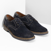 Blue leather shoes with stitching bata, blue , 823-9613 - 26