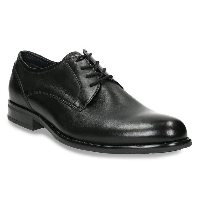 Men's Derby shoes bata, black , 824-6618 - 13