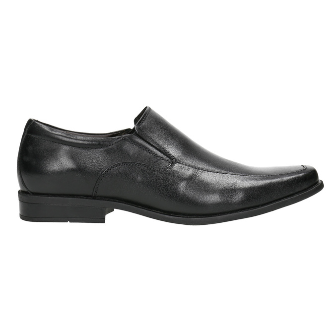 Men's leather Loafers bata, black , 814-6623 - 15
