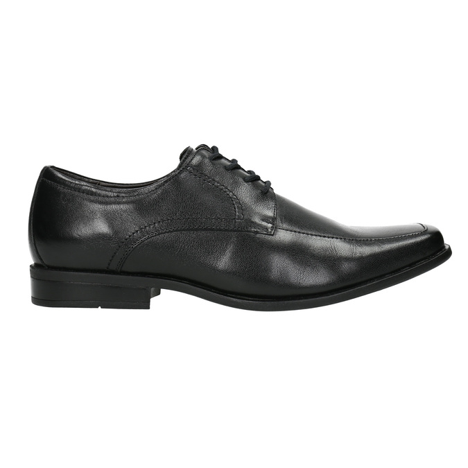 Black leather shoes bata, black , 824-6600 - 15