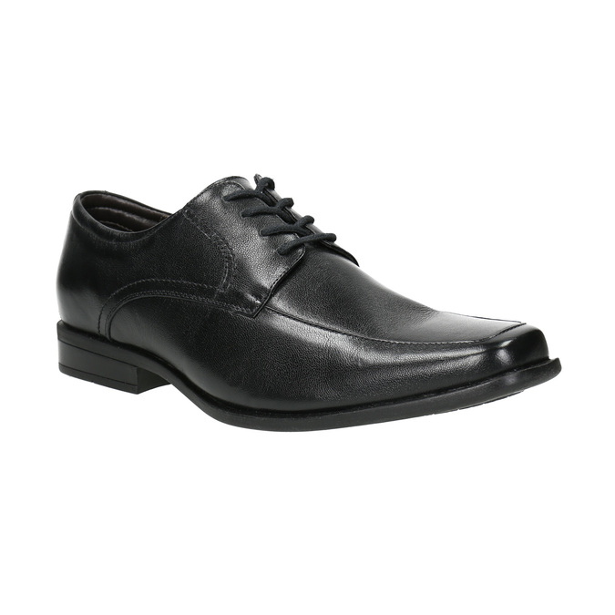 Black leather shoes bata, black , 824-6600 - 13