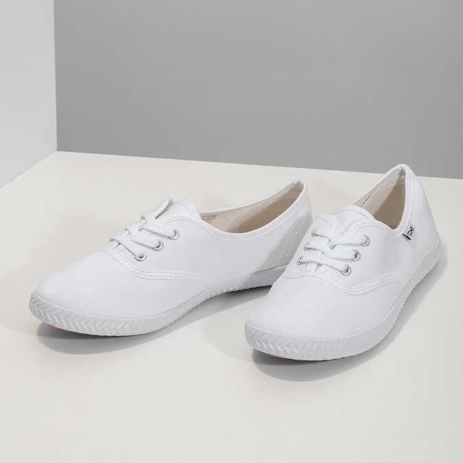 Ladies' white sneakers tomy-takkies, white , 589-1180 - 16