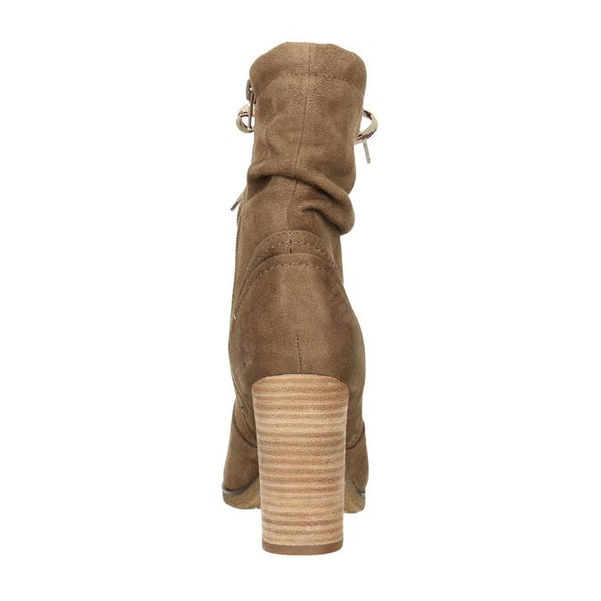 Brown heeled high boots bata, brown , 799-3613 - 17