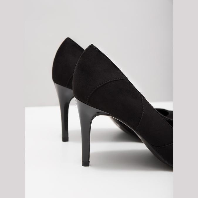 Ladies pointed pumps insolia, black , 729-6607 - 14