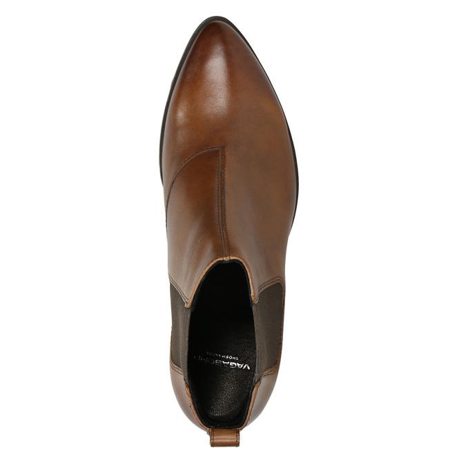 Ladies' leather heeled Chelsea boots vagabond, brown , 614-4020 - 26