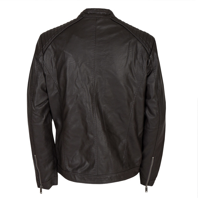 Men's Imitation Leather Jacket bata, brown , 971-4103 - 26