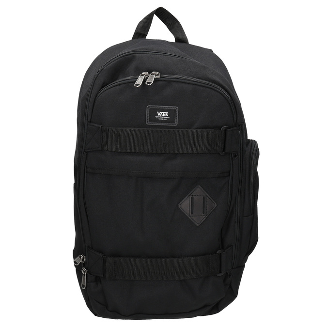 Black Backpack with Buckles vans, black , 969-6098 - 26