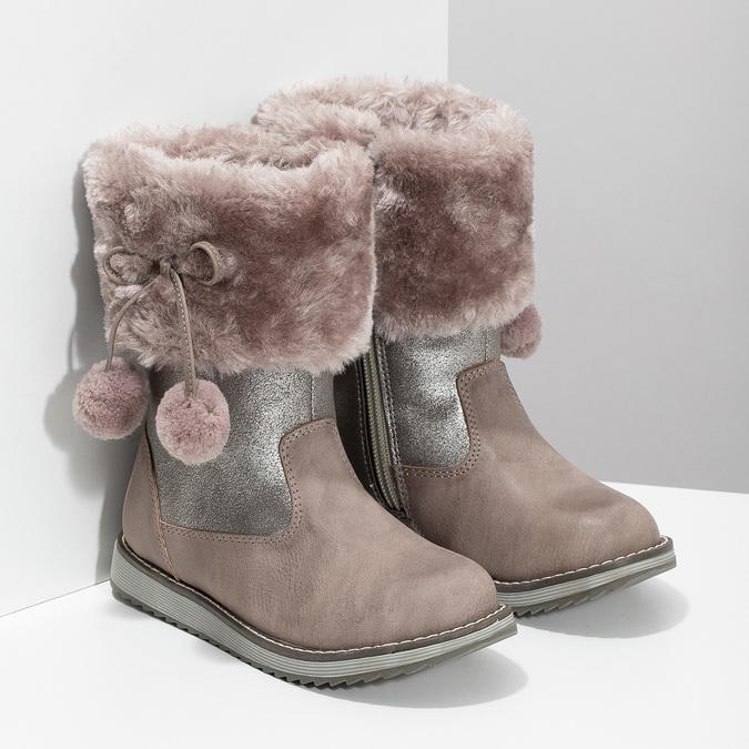 Children's Winter Boots bubblegummer, beige , 291-8624 - 26