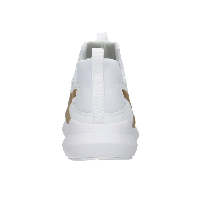 White Ladies' Sneakers with Gold Stripe puma, white , 509-1200 - 16