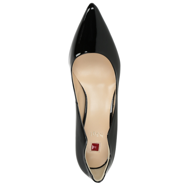 Ladies' Leather Pumps with Cutouts hogl, black , 728-6054 - 15