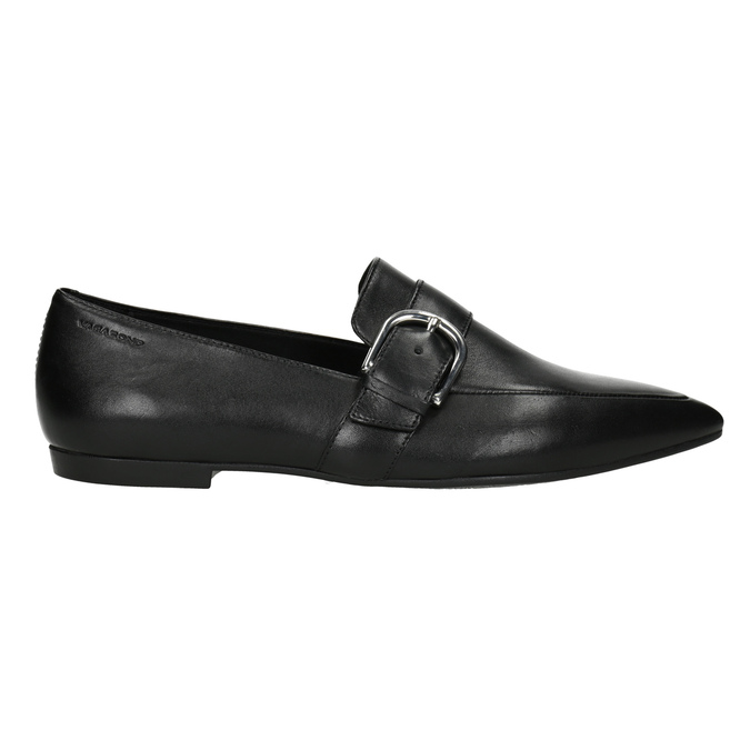 Ladies' Leather Moccasins with Buckle vagabond, black , 514-6017 - 26