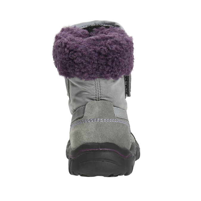 Girls' Winter Boots with Fleece bubblegummer, gray , 193-2601 - 17