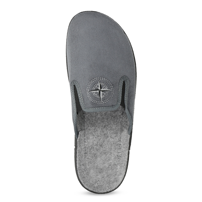Men's Slippers bata, gray , 879-2610 - 17