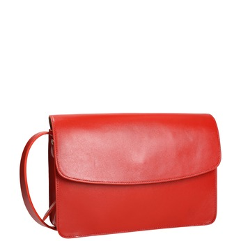 Red leather handbag vagabond, red , 964-5086 - 13