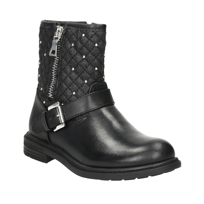 Girls' Zipper High Boots mini-b, black , 291-6396 - 13