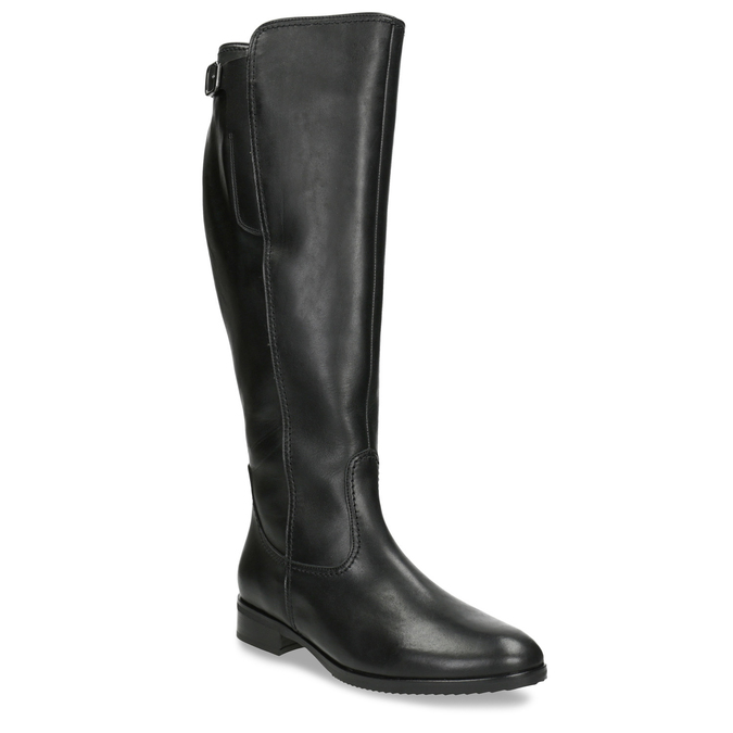 Ladies' Black Leather High Boots gabor, black , 694-6164 - 13