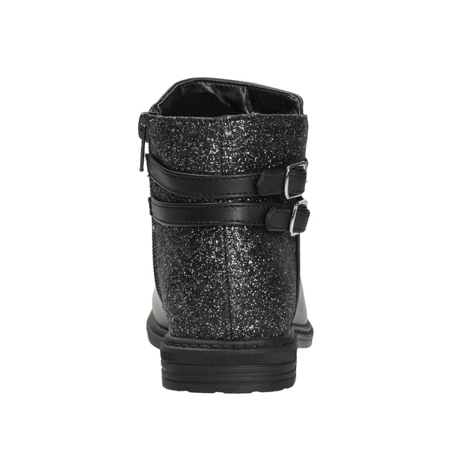 Girls' ankle boots with glitter mini-b, black , 391-6395 - 16