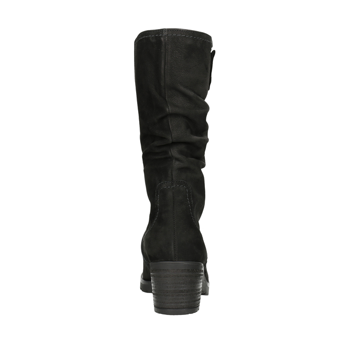 Leather High Boots with Stitching gabor, black , 796-6151 - 16