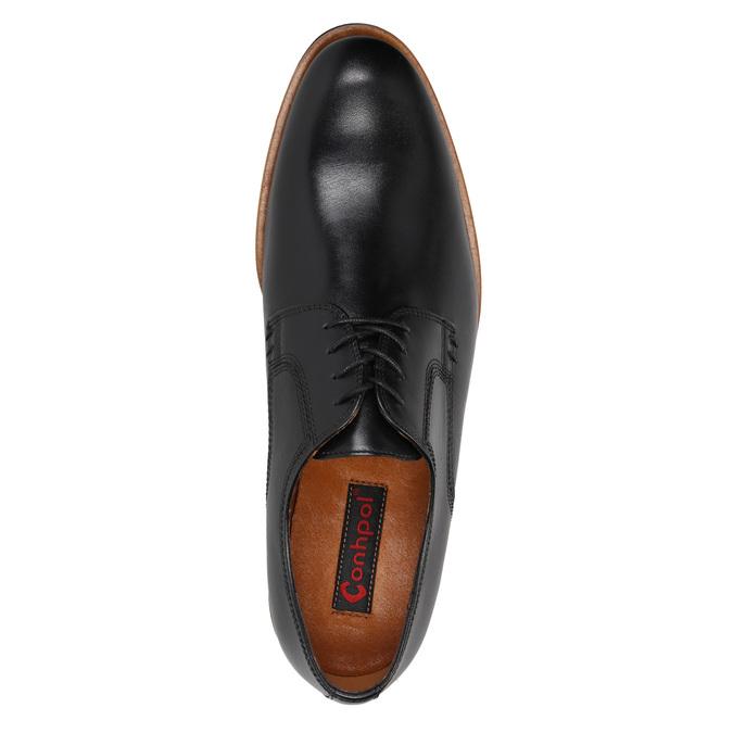 Men's leather shoes conhpol, black , 824-6991 - 15