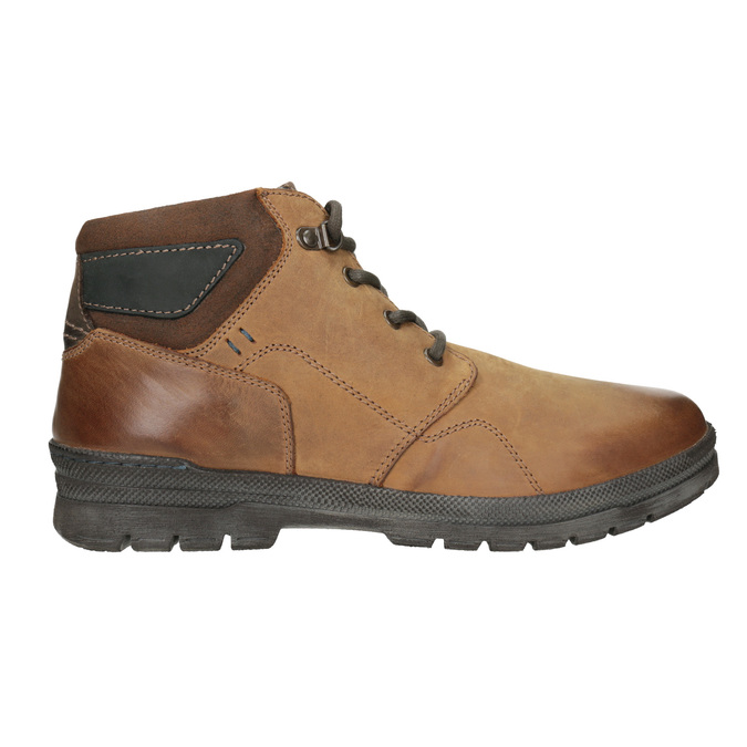 Men's Leather Winter Boots bata, brown , 896-3681 - 26