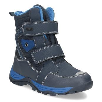 Children's winter boots with Velcro mini-b, blue , 491-9653 - 13